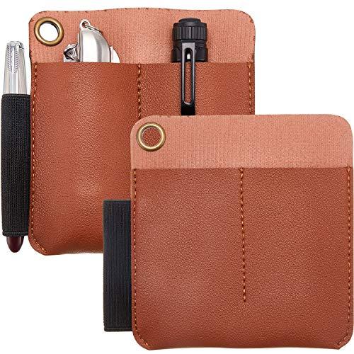 2 Stücke Leder Tasche Ledertasche Schutz Veranstalter Leder Messer Scheiden Träger mit Stift Schlaufentasche für Messer Stift