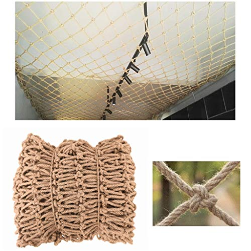 ZHANGYUQI Garden Railing Stairs Kids Anti-Fall Net, Net Decoration Nets For Garden Jute Netting Photo Wall DIY Bar Cafe Bookstore Industrial Wind Punk Decoration 8mm/12cm Multiple Sizes