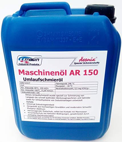 (10€/L) 5L Äronix AR150 Maschinen Getriebeöl Umlaufschmieröl Bohrhammer Stemmhammer Schlagwerk Getriebe Öl Schmieröl