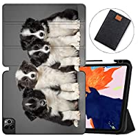 MAITTAO Case For New iPad Pro 12.9 inch 4th Generation 2020 with Apple Pencil Holder, Soft TPU Back Stand Smart Cover with Auto Sleep/Wake, Support iPad Pencil Wireless Charging,Cute Dog 2