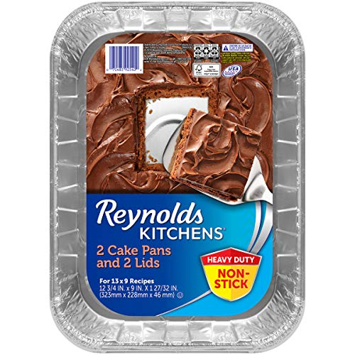 Reynolds Disposable Aluminum Cake Pans with Lids