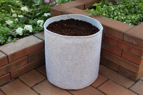Inconnu Sacs de plantation Gris clair de 7,5 à 100 l 20 Liter 30 cm x 30 cm