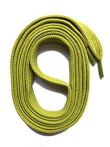 SNORS flache Schnürsenkel OLIVE 60cm, 7-8mm, reißfest, Polyester, Made in Germany für Sportschuhe Sneaker Turnschuhe und Kinderschuhe - ÖkoTex