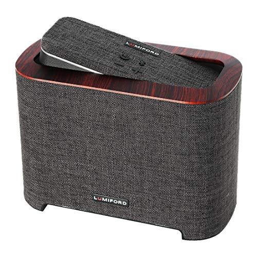 LUMIFORD 2.1 Subwoofer Dock with Alexa built-in Voice Control Bluetooth Speaker, Powerful 26 Watt Wireless Docking System, 10 hours play time (Dark grey)