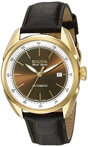 Bulova Men's Stainless Steel and Brown Leather Automatic Watch (Model: 64B127) -  Bulova Corporation