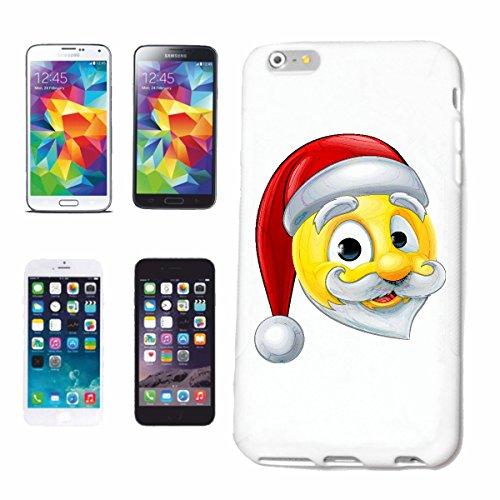 Bandenmarkt telefoonhoes compatibel met iPhone 7+ Plus Smiley als kerstman met muts en baard smileys Smilies Android iPhone Emoticons IOS GRINSEGECHT EMOTI