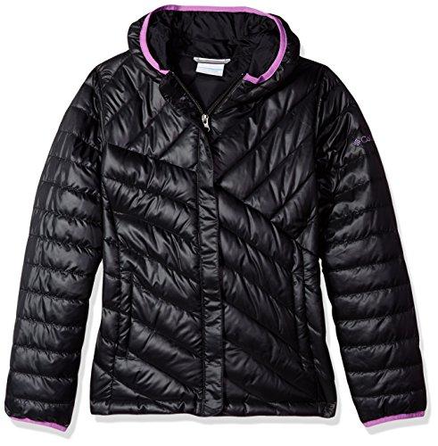 Columbia Big Girls' Powder Lite Puffer Jacket, Black/Crown Jewel, Small