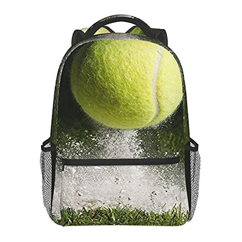 BYETWIK Mochilas Escolares Niños Niñas, Mochilas Hombre Mujer, Casual Deporte Playa Viaje Compras Bolsa Escolar, Mochilas Escolares Cancha de tenis Wimbledon en