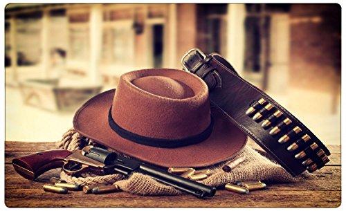 Cowboy Hut Revolver Wilder Westen Wandtattoo Wandsticker Wandaufkleber R1198 Größe 70 cm x 110 cm