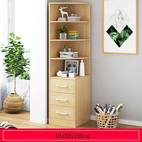 WHG- Bücherregal, 4 Ebenen, Bodenstehendes Bücherregal, Regal Mit 3 Würfeln Und Schubladen For...