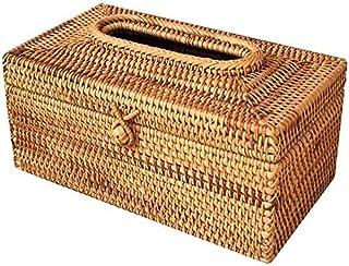 Rack Ratt Rattan Tissue Box Elegant Home Decoration Handmade Desktop Tissue Container Serwetki Przechowywanie Case Do Vani...