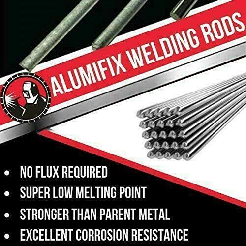10Pcs Super Melt Flux Cored Aluminum Solución fácil Varillas de soldadura de aluminio Alta calidad 1.6mm / 2mm × 50cm, soldadura a baja temperatura (2mm)