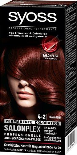 Syoss Haarfarbe, 4-2 Mahagoni, 3er Pack (3 x 115 ml)