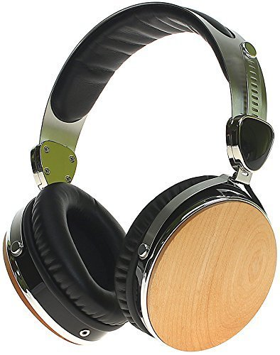 Symphonized Headphones | Over-The-Ear Wired Noise-isolating Wraith 2.0 Premium Genuine Wood Earphones with Mic - Maple