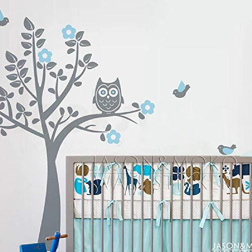 LKNS Muursticker Muursticker Sticker Sticker Behang Kinderen Babykamer Thuis Decor Lichtblauw