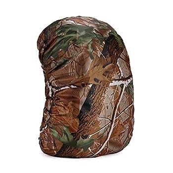 Sac à dos camouflage 35?80 L - Housse de pluie légère et imperméable - Pour instruments de musique, voyage, escalade, randonnée et activités de plein air - 45 litres (M)