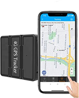 Reiwour Magnetic 4G GPS Tracker for Vehicles Real Time Portable GPS Tracker Locator Long Life Battery for car Tracking Dev...