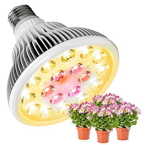 실내용 SZHLUX 25W LED 플랜트 성장 전구 E26 PAR38 일광 전 스펙트럼 소형 플랜트 성장 램프 온실 수경성 다육성