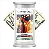 Cash Money Candles | $2-$2500 Inside | Guaranteed Rare $2 Bill | Large Long-Lasting 21oz Jar All Natural Soy Candle | Fall/Winter Collection | Mistletoe Kisses