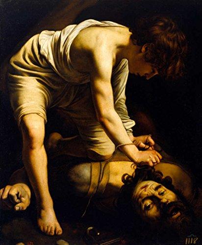 kunst für alle Art Print/Poster: Michelangelo Merisi da Caravaggio David triumphing Over Goliath Picture, Fine Art Poster, 29.5x35.4 inch / 75x90 cm