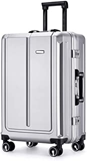 SMLCTY Trolley Case,carry On Luggage,carryon Luggage With Spinner Wheels, Aluminum Frame Pull Rod Box,20 Inches, 24 Inches (Color : Gray, Size : 20 inches)