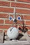 Steinvogel Gartendekoration Punki 30cm Rostfrei Unikat Handarbeit Ferrodesign