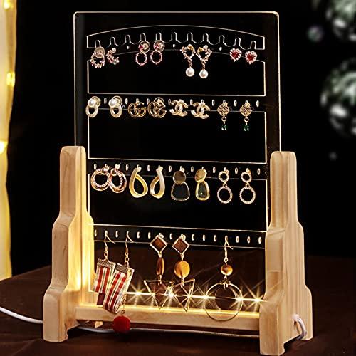 Soporte de exhibición de joyería de acrílico Pendientes Colgante Soporte de joyería Vertical Soporte de joyería de exhibición de Collar de Broca porosa