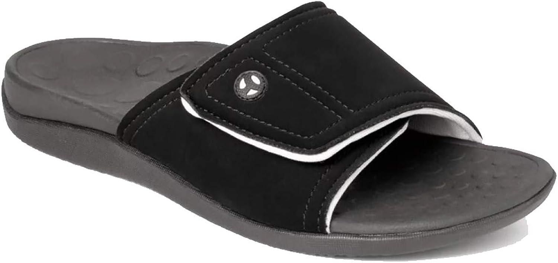 Vionic with Orthaheel Technology Unisex Kiwi Sandals Includes Bonus Plantar Fasciitis Foot Roller