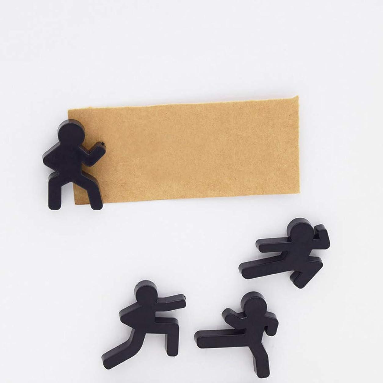 パーチナシティ韓国語間隔Alician 4PCS冷蔵庫マグネット中国スタイルKongfu冷蔵庫マグネットメッセージステッカー家の装飾