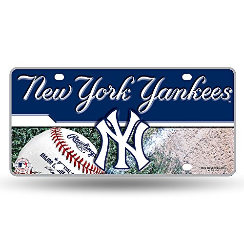 MLB New York Yankees Metal Auto Tag