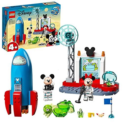 LEGO 10774 Mickey and Friends Cohete Espacial de Mickey Mouse y Minnie Mouse Nave Espacial de Juguete para Niños +4 Años