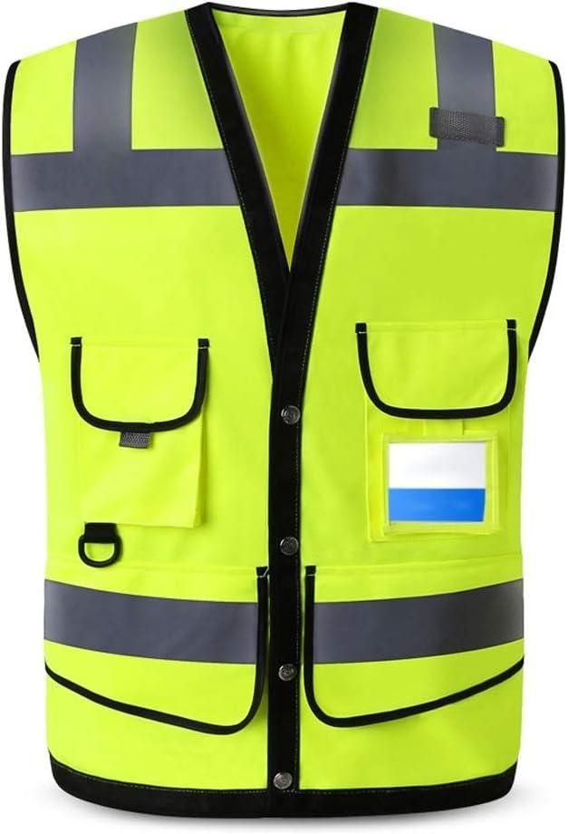 Haute Visibilit/é Hi Viz Travail Usure Cargo Haute Visibilit/é Short Multi Poche Polycoton R/éfl/échissant S/écurit/é Pantalon