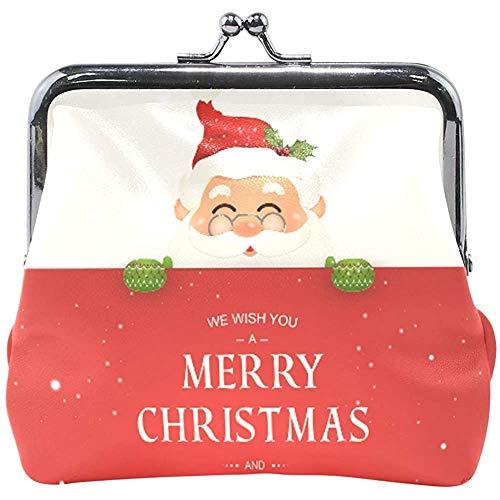 Feliz Navidad Sonriendo Papá Noel Cayendo Nieve Lindo...