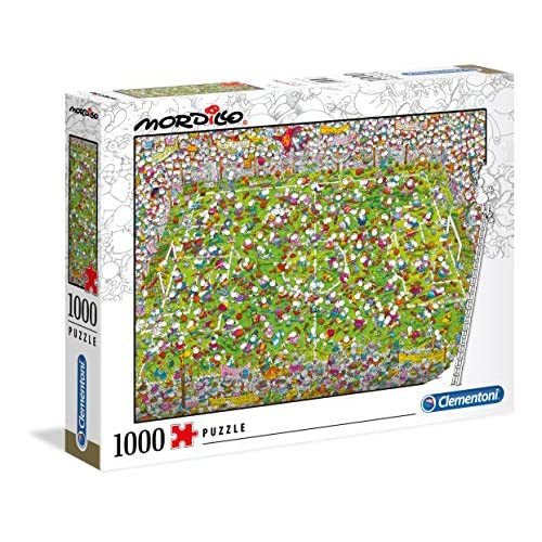Clementoni - 39537 - Mordillo Puzzle - The Match - 1000 Pezzi - Made In Italy - Puzzle Adulti