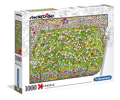 Clementoni - 39537 - Mordillo Puzzle - The Match - 1000 Pezzi - Made In Italy - Puzzle Adulti