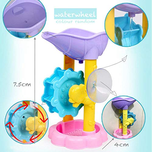 Yener Bath Waterwheel Toy Kid Bathroom Education Water Child Boys Girls Happy Toddler Bathtub Foam Beach Swimming Pool, waterwheel
