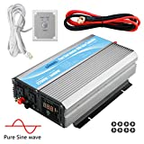 GIANDEL 2200W Pure Sine Wave Power Inverter 12V DC to 120V AC with 20A Solar...