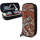 Spence - Apellido americano Estuche de lápices de cuero de alta capacidad Bolígrafo Papelería Organizador Titular Oficina Marcador Bolígrafo Bolso de viaje