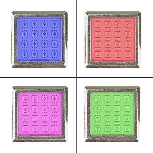 LED RGB Vitrinenbeleuchtung Glasbodenbeleuchtung Möbelleuchte Schrankleuchte SET, Auswahl:1er SET, Form:Quadratisch