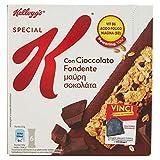 Kellogg's Barrette di Cereali con Cioccolato Fondente, 6 Pezzi