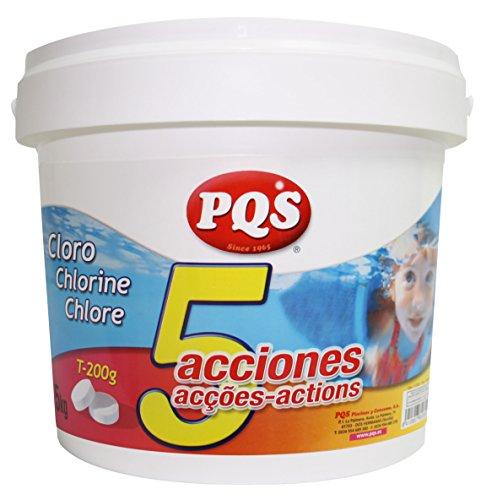 Cloro 5 acciones tabletas 200grs 5kg PQS