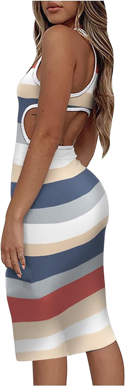 SHOPESSA Women's Midi Dresses Summer latest Cutout Bodycon Waist 1 year warranty Ha Y2K