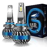 GEARGO 9012/HIR2 LED Headlight Bulb, 10000 LM Low Beam Headlight Bulb 60W LED Headlights Conversion Kit 6500K Cool White