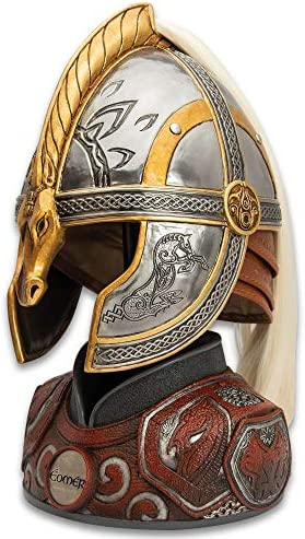 Lord of Rings Helm of Eomer with Display Stand Accurate Movie Replica Metal Construction Leather product image