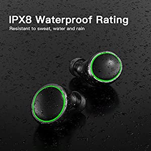 Wireless Earbuds Bluetooth 5.0 Headphones, IPX8 Waterproof Stereo Earbuds with Microphone, LED Battery Display 120H Playtime, Noise-Cancelling Headphones with Charging Case for Sports (New Model)