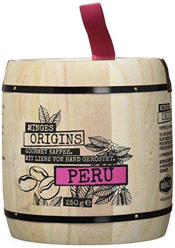 Fritz Minges Peru Hochland Arabica Im Holzfass, 2er Pack (2 x 250 g)