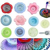 アクリル製注ぎストレーナー 11個 アクリル絵の具用ストレーナー プラスチック製の花ストレーナー シリコン製流し排水口 アクリル絵の具を自作に注ぐ ユニークな模様を作る