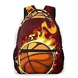 LNLN Mochila Casual para niñas Fire Basketball Laptop Backpack School Backpack...