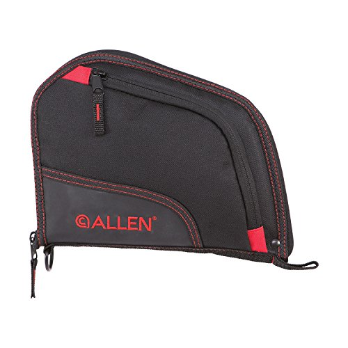 Allen Auto-Fit Handgun Case 9 Black/Red Red, 9