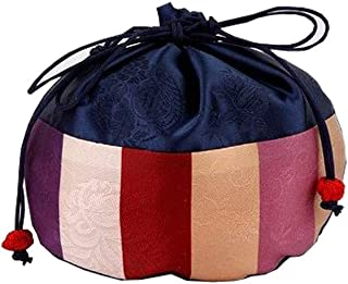 زي تنكري كوري التقليدي للفتيات والأولاد من Hanbok Lucky Pocket أزرق بحري